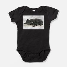 Sleeping Irish Wolfhound Puppy Baby Bodysuit