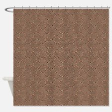 Optical Emulsion Red Shower Curtain