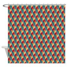 Optical Steps Bold Shower Curtain