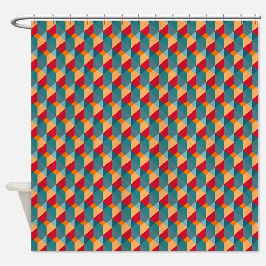 Optical Steps Bold Shower Curtain