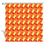 Optical Steps Pink Shower Curtain