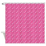 Pink Stars Shower Curtain