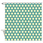 Spolka Plots Mint Blue Shower Curtain