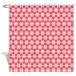Spolka Plots Pink Shower Curtain