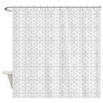 Star Clusters Grey Shower Curtain