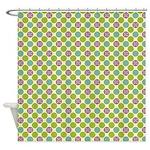 Starburst Polka Dot Shower Curtain