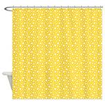 Yellow Stars Shower Curtain