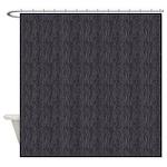Zebra Black Grey Shower Curtain