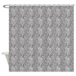 Zebra Black White Shower Curtain