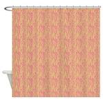 Zebra Green Pink Shower Curtain