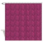 Zebra Pink Black Shower Curtain
