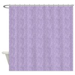 Zebra Purple Shower Curtain