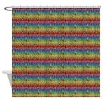 Zebra Rainbow Shower Curtain