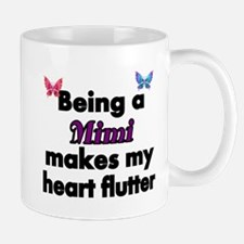 Being a Mimi makes my Heart Flutter Mugs