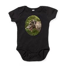 Wet Irish Wolfhound Baby Bodysuit