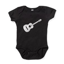 Acoustic Guitar Silhouette Baby Bodysuit