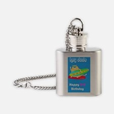 hey dude 2nd Birthday Flask Necklace
