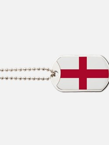 NC English Flag - St. Georges Cross Dog Tags