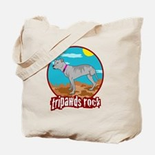 Tripawd Pitbull Rear Leg Blanket Tote Bag