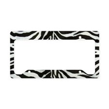 Zebra License Plate Holder