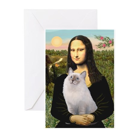 Mona & her Ragdoll Greeting Cards (Pk of 10)