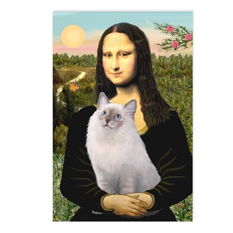 Mona & her Ragdoll Postcards (Package of 8)