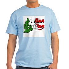 Classic Italian Stallion Light Blue T-Shirt
