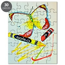 Crayon Butterfly Puzzle