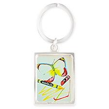 Crayon Butterfly Portrait Keychain