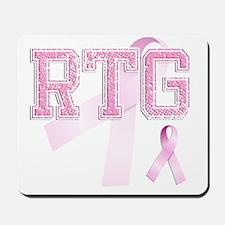 RTG initials, Pink Ribbon, Mousepad