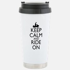 Keep Calm and Ride On Travel Mug