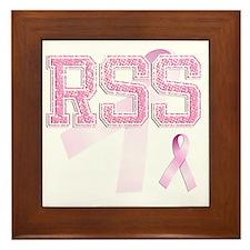 RSS initials, Pink Ribbon, Framed Tile