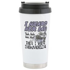 Blah blah blah Snowmobi Travel Mug