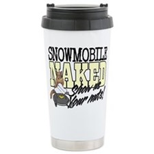 Snowmobile Naked Squirrel Travel Mug