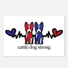 Cattle Dog Strong Postcards (package Of 8)