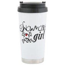 Snowmobile Girl Travel Mug