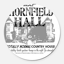 Visit Thornfield Hall Round Car Magnet
