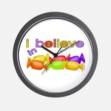 I believe in candy Wall Clock