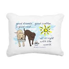 good friends good coffee Rectangular Canvas Pillow