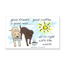 good friends good coffee Rectangle Car Magnet