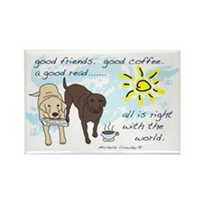 good friends good coffee Rectangle Magnet