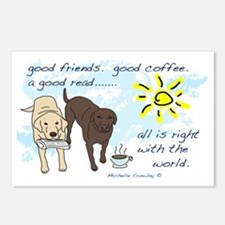 good friends good coffee Postcards (Package of 8)