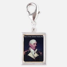 Commodore John Barry Silver Portrait Charm