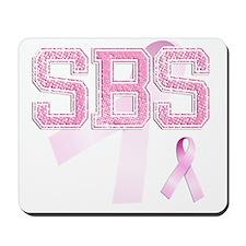 SBS initials, Pink Ribbon, Mousepad