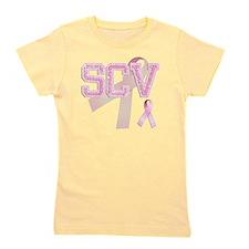 SCV initials, Pink Ribbon, Girl's Tee