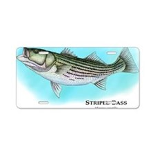 Striped Bass Aluminum License Plate