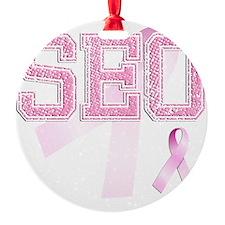 SEO initials, Pink Ribbon, Ornament