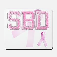 SBD initials, Pink Ribbon, Mousepad