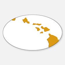 Hawaiian Islands Gold Decal