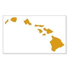 Hawaiian Islands Gold Stickers